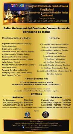 5o Comngreso Colombiano de Derecho Procesal Constitucional