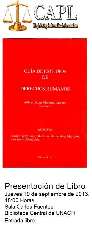 Presentación  del libro: Guia de Estudios de Derechos Humanos