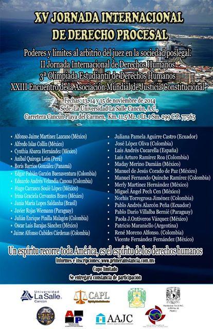 XV Jornada Internacional de Derecho Procesal