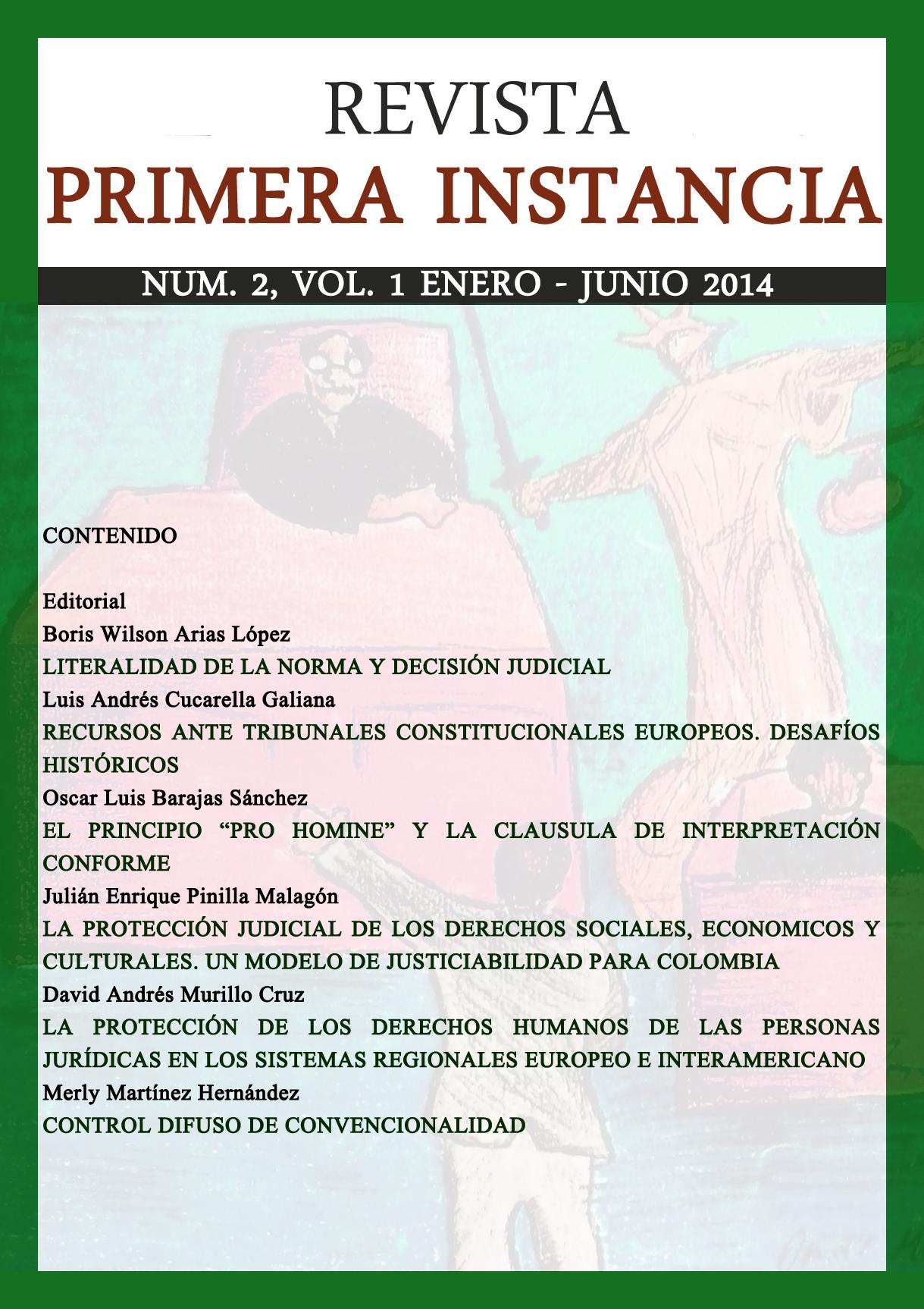 Número 2, Volumen 1. Enero – junio 2014