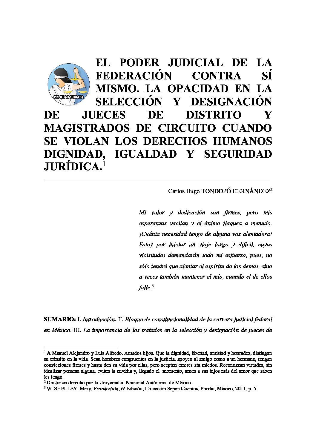 EL PODER JUDICIAL DE LA FEDERACIÓN CONTRA SÍ MISMO…-Carlos-Hugo-Tondopó-Hernández