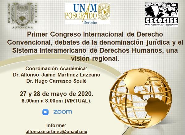 PRIMER CONGRESO INTERNACIONAL DE DERECHO CONVENCIONAL, DEBATES DE LA DENOMINACIÓN JURÍDICA Y EL SIDH