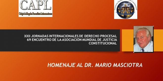 PROGRAMA XXII JIDP 69 EAMJC  HOMENAJE DR. MARIO MASCIOTRA